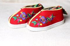 Orientaliska handgjorda skor Fotografering för Bildbyråer