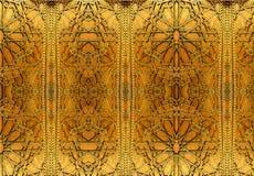 Orientaliska järndesigner och prydnader Målningen visar orientaliska modeller på järndörren royaltyfria foton