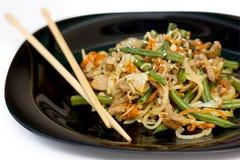 orientaliska porksalladgrönsaker Arkivfoto