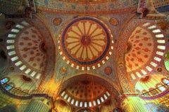 orientaliska prydnadar för blå moské Royaltyfri Fotografi