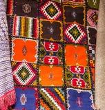 Orientaliska prydnader för marockansk matta, Marocko Arkivbild