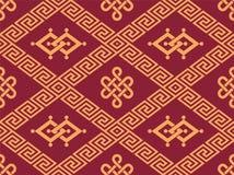 Orientaliska Seamless belägger med tegel Arkivfoto
