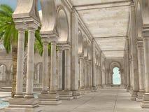 Orientaliskt hall stock illustrationer