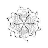 Orientaliskt mandalamotiv av rund virvlande runt form, illustration av den blom- modellen för garnering i orientalisk stil royaltyfri illustrationer