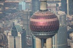 orientaliskt pärlemorfärg shanghai torn Arkivbilder