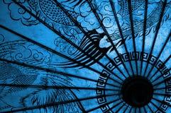 orientaliskt paraply Arkivfoton