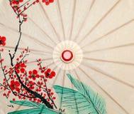 orientaliskt paraply för closeup Arkivfoton