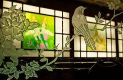 Orientaliskt restaurangkonstverk Royaltyfri Bild