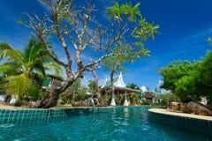 Orientaliskt semesterortlandskap i Thailand Royaltyfria Foton