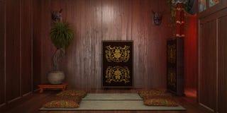 Orientaliskt stilrum Arkivfoton