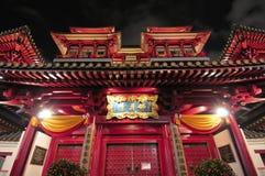 orientaliskt tempel för arkitektonisk design Royaltyfri Fotografi