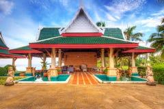 Orientalna architektura przy plażą Obraz Royalty Free