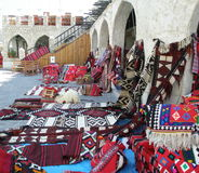 Orientalna dywan sprzedaż w Doha Obrazy Stock