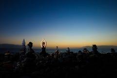 Orientalna joga medytacja na Tenerife Obraz Stock