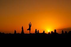 Orientalna joga sesja na Tenerife Zdjęcie Royalty Free