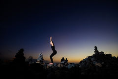 Orientalna joga sesja na Tenerife Zdjęcie Stock