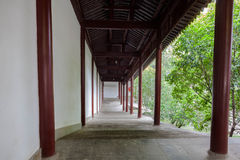 Orientalna klasyczna architektura - korytarz fotografia stock