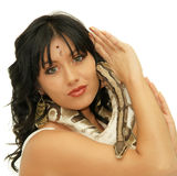 Orientalna kobieta Zdjęcie Royalty Free