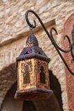Orientalna lampa z pomysłowo ornamentami Zdjęcie Stock