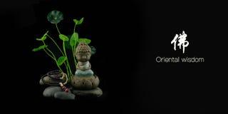 Orientalna mądrość Buddha Obrazy Stock