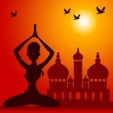 Orientalna medytacja Zdjęcia Royalty Free