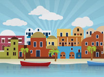 Orientalna miasto ilustracja Obrazy Stock
