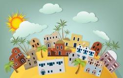 Orientalna miasto ilustracja Zdjęcia Stock