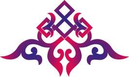 Orientalnego chińskiego ornamentu rocznika elementu sylwetki azjatykciego tradycyjnego deseniowego kwiecistego rżniętego ornament Obrazy Royalty Free