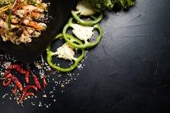 Orientalnego kuchnia posiłku sałatkowy warzywo zdrowotny obraz royalty free