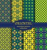 Orientalni bezszwowi wzory Zdjęcia Royalty Free