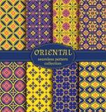 Orientalni bezszwowi wzory Obraz Stock