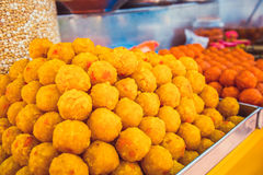 orientalni halva cukierki trzy tradycyjnej rozmaitości Kuala Lumpur, Malezja Zdjęcie Stock