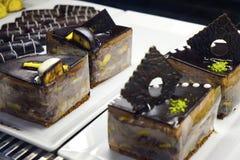 Orientalni Tureccy ciasta z śmietanką i owoc Fotografia Stock