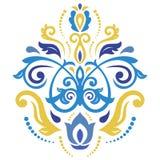 Orientalny Abstrakcjonistyczny wektoru wzór Zdjęcia Royalty Free