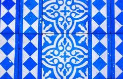 Orientalny Błękitny i Biały wzór Fotografia Royalty Free