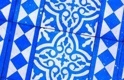 Orientalny Błękitny i Biały wzór Obrazy Stock