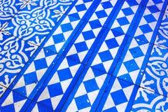 Orientalny Błękitny i Biały wzór Zdjęcie Stock