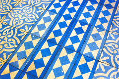 Orientalny Błękitny i Biały wzór Fotografia Stock