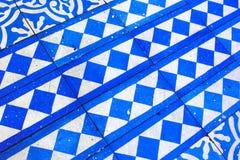 Orientalny Błękitny i Biały wzór Obraz Stock