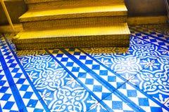Orientalny Błękitny i Biały wzór Obraz Royalty Free