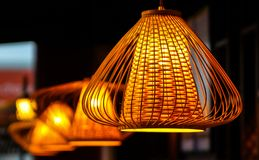 Orientalny Bambusowy lampion Obrazy Stock