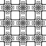 Orientalny bezszwowy tło, kombinacja wyplata dwoiste linie Zdjęcie Stock