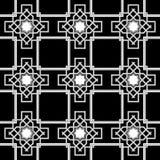Orientalny bezszwowy tło, kombinacja wyplata dwoiste linie Obraz Royalty Free