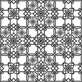 Orientalny bezszwowy tło, kombinacja wyplata dwoiste linie Zdjęcia Stock