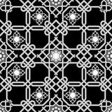 Orientalny bezszwowy tło, kombinacja wyplata dwoiste linie Obrazy Stock