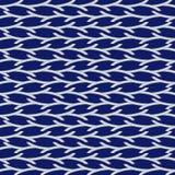 Orientalny błękitny bezszwowy wzór Zdjęcia Royalty Free