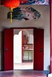 Orientalny czerwony drzwi obraz royalty free