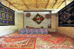 Orientalny herbacianego domu wnętrze Obraz Royalty Free