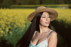 Orientalny kobieta portret Zdjęcie Royalty Free