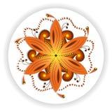 Orientalny mandala motyw wiruje kszta?t round, ilustracja kolorowy kwiecisty wz?r dla dekoracji w orienta?a stylu royalty ilustracja